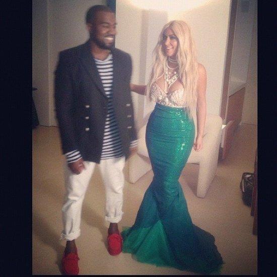 Kim Kardashian και Kanye West σαν γοργόνα και καπετάνιος αντίστοιχα
