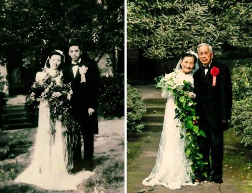 Ένα ζευγάρι αναβιώνει τον γάμο του μετά από 70 χρόνια